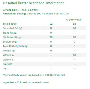 kerrygold butter ingredients